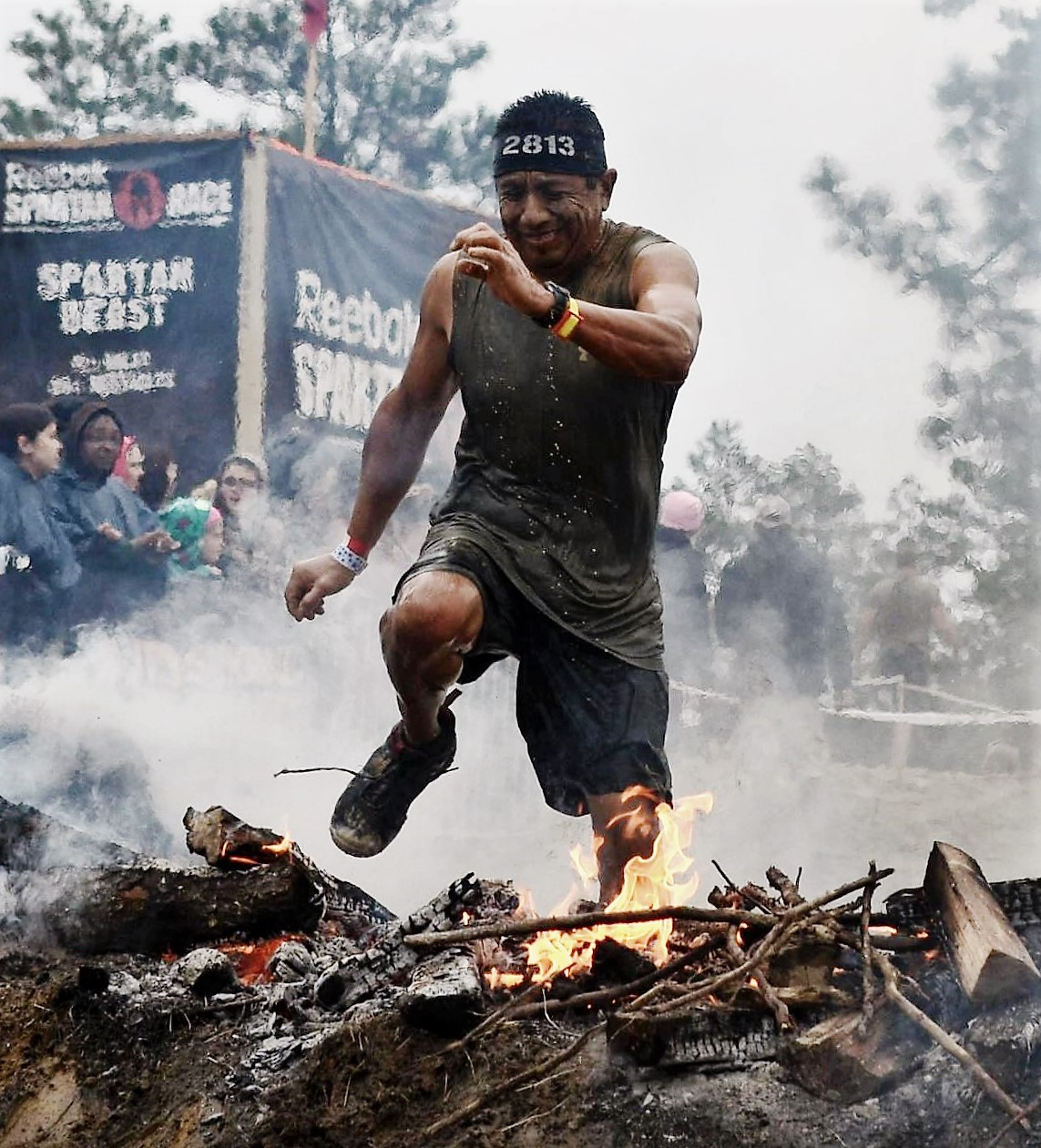Spartan race fire jump  2
