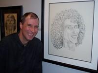 Dan with self portrait