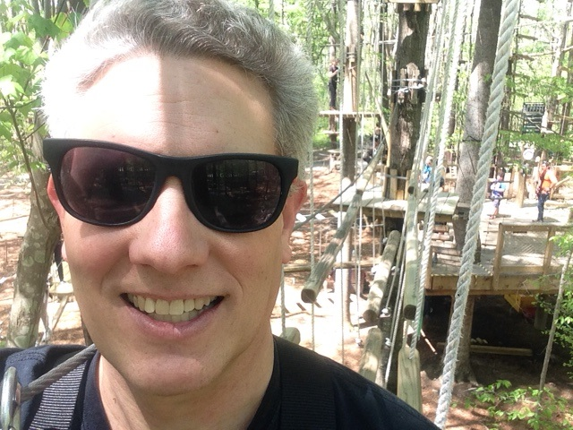 Adventure course selfie