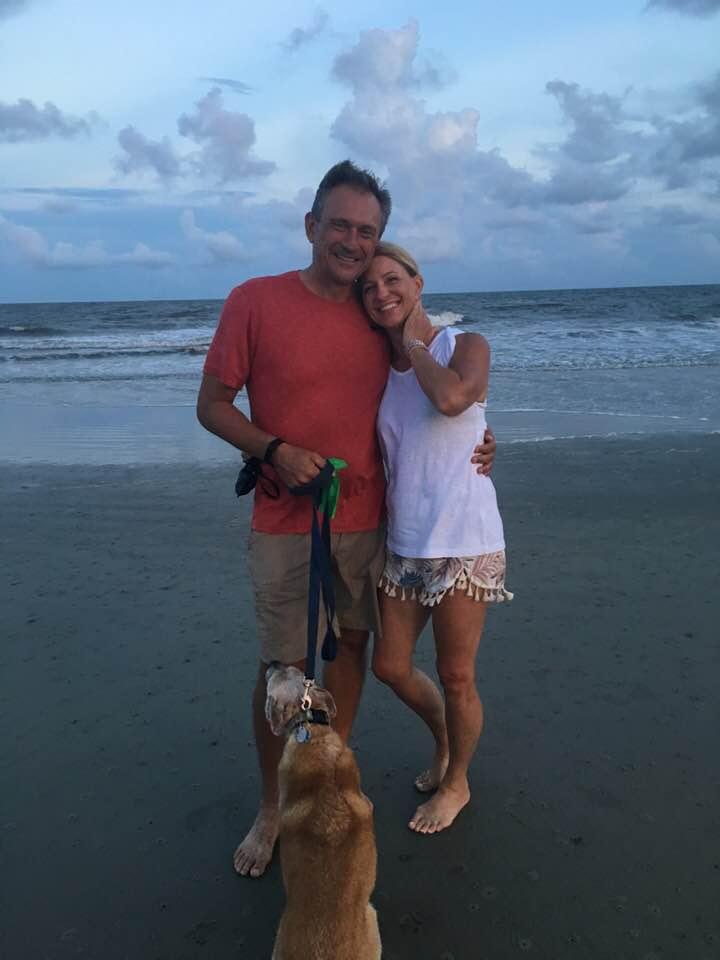 Channy and bob at beach