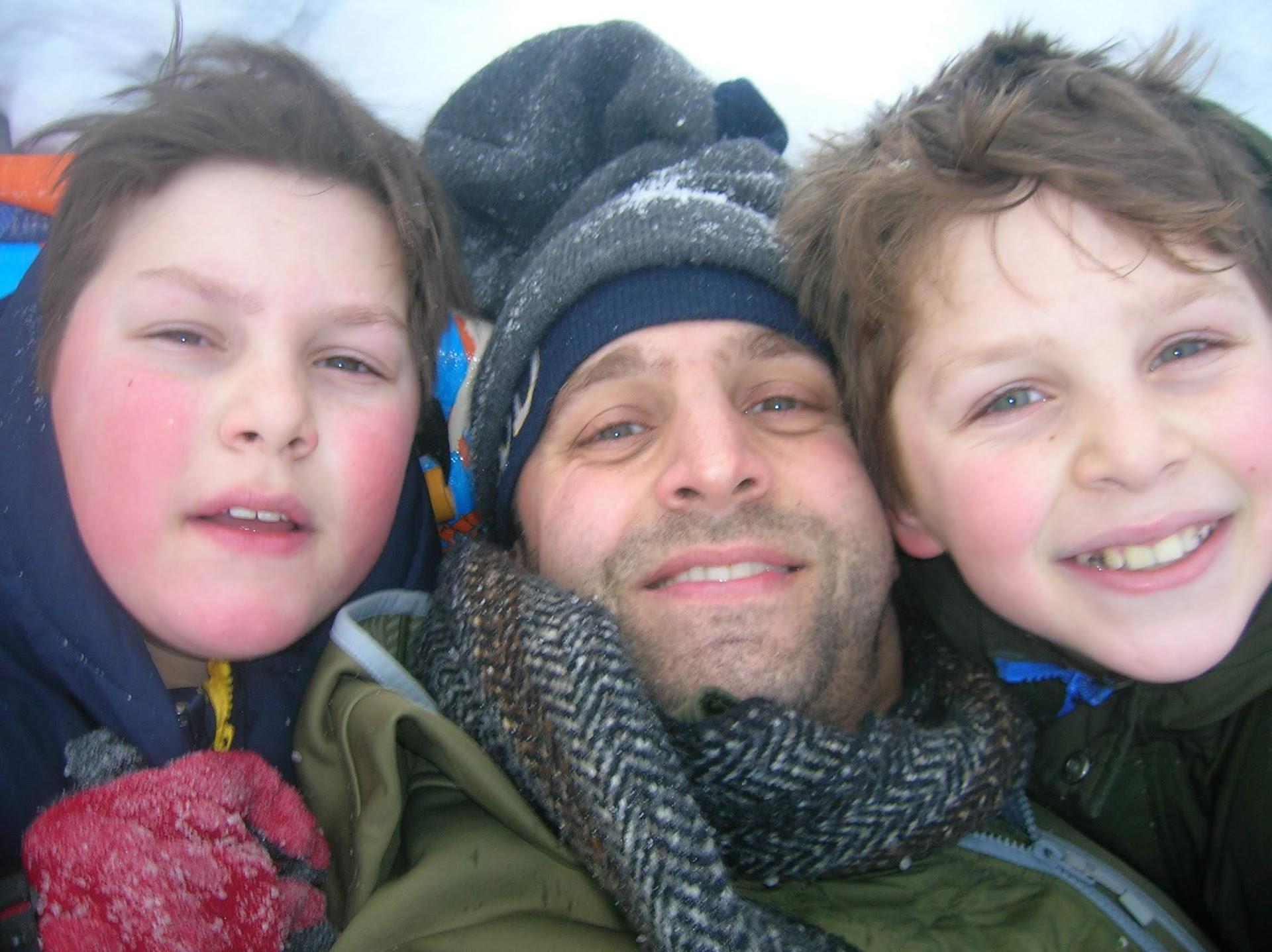 Aj  isaac and me snow 2020