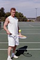 Steve goofing on tennis court sept 2008  2