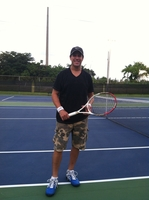 Me on tennis court